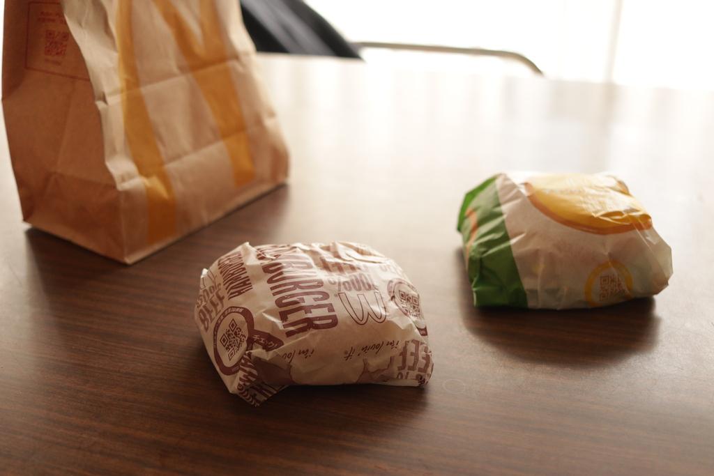 ハンバーガーにふりかけ